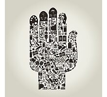 Hand art Photographic Print