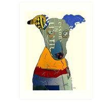 kacy the greyhound Art Print