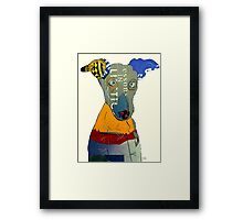 kacy the greyhound Framed Print