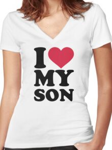 I love my son Women's Fitted V-Neck T-Shirt
