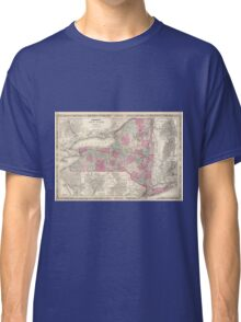 Vintage Map of New York (1864) Classic T-Shirt