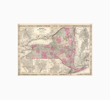 Vintage Map of New York (1864) T-Shirt