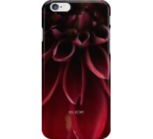 The red dahlia (version 2) iPhone Case/Skin