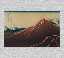 Sanka haku - Hokusai Katsushika - 1890 One Piece - Long Sleeve