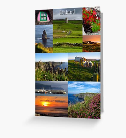 Cliffs of Moher poster Greeting Card