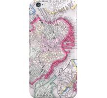 Vintage Map of Downtown Boston (1864) iPhone Case/Skin