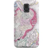 Vintage Map of Downtown Boston (1864) Samsung Galaxy Case/Skin