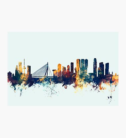 Rotterdam The Netherlands Skyline Photographic Print