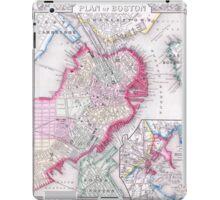 Vintage Map of Downtown Boston (1864) iPad Case/Skin