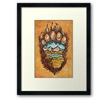 Bear paw Framed Print