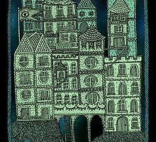 Busy Body Whimsical Castle  by Stacey Muir