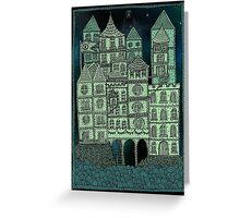 Busy Body Whimsical Castle  Greeting Card