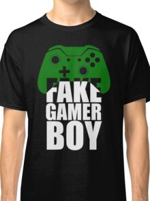 Fake Gamer Boy - Xbox - White Text Classic T-Shirt