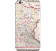 Vintage Map of Minnesota (1864) iPhone Case/Skin