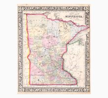 Vintage Map of Minnesota (1864) Unisex T-Shirt