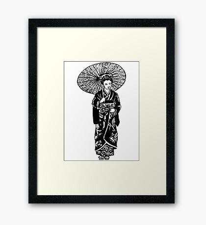 geisha 01-1 Framed Print