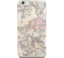 Vintage Map of The World (1864) iPhone Case/Skin