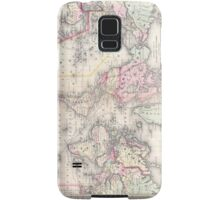 Vintage Map of The World (1864) Samsung Galaxy Case/Skin