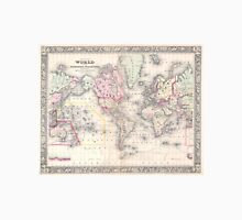 Vintage Map of The World (1864) Unisex T-Shirt