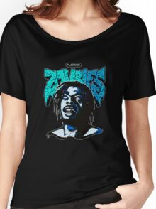 THE FLATBUSH ZOMBIE IN BLUE Women's Relaxed Fit T-Shirt