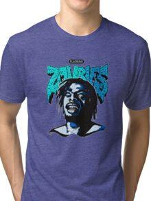 THE FLATBUSH ZOMBIE IN BLUE Tri-blend T-Shirt