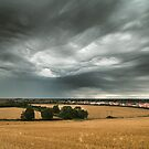 Stormy Sky Over Sawtry by stereocolours