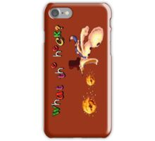 Earthworm Jim - What the Heck? iPhone Case/Skin