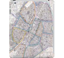 Vintage Map of Paris (1865) iPad Case/Skin