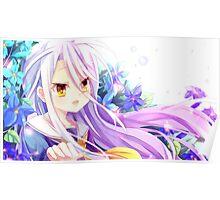 Shiro The White Flower - No Game No Life Poster