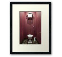 Interior Toilet Framed Print