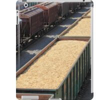 rail cars loaded with wood chip iPad Case/Skin