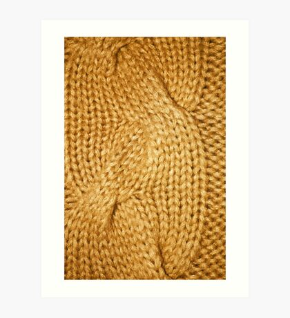 gold cable knit   textures Art Print