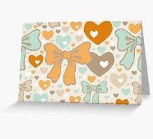 Seamless pattern with bows and hearts. Greeting Card