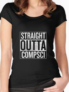 Straight Outta Compsci Women's Fitted Scoop T-Shirt