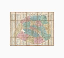 Vintage Map of Paris France (1867) Unisex T-Shirt