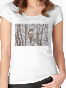 Northern Hawk-Owl  Women's Fitted Scoop T-Shirt