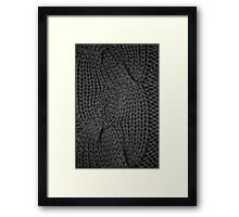 cable knit | texture Framed Print