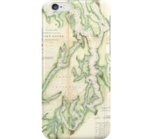 Vintage Map of The Puget Sound (1867) iPhone Case/Skin