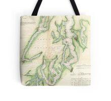Vintage Map of The Puget Sound (1867) Tote Bag