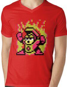 Heat Man Mens V-Neck T-Shirt