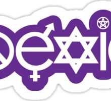 Purple Coexist Design Sticker