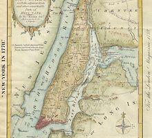 Vintage Map of New York City (1869) by BravuraMedia