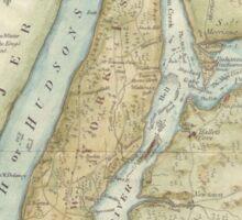 Vintage Map of New York City (1869) Sticker