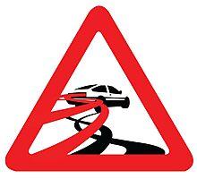 Caution: Inertia Drift Photographic Print