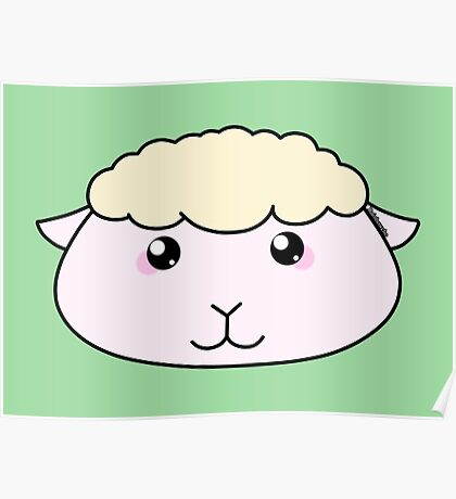 Cute little lamb - Farm animals collection Poster