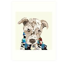 a pit bull day  Art Print