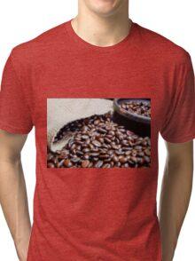 Coffee Beans Closeup II Tri-blend T-Shirt