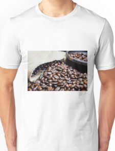 Coffee Beans Closeup II Unisex T-Shirt