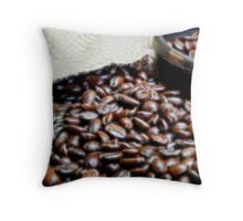 Coffee Beans Closeup II Throw Pillow