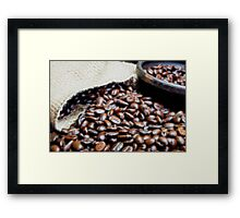 Coffee Beans Closeup II Framed Print